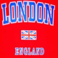London/England red kids t-shirt
