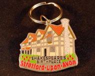 Shakespeares Birthplace metal keyring