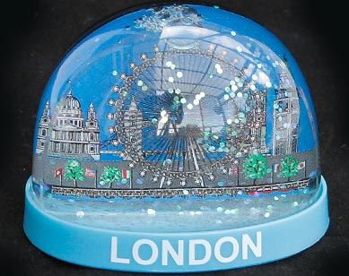 London Eye plastic snowglobe
